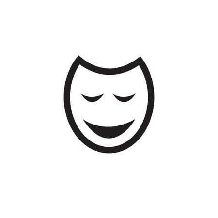 incognito: Traditional Venetian Carnival Mask Flat Icon