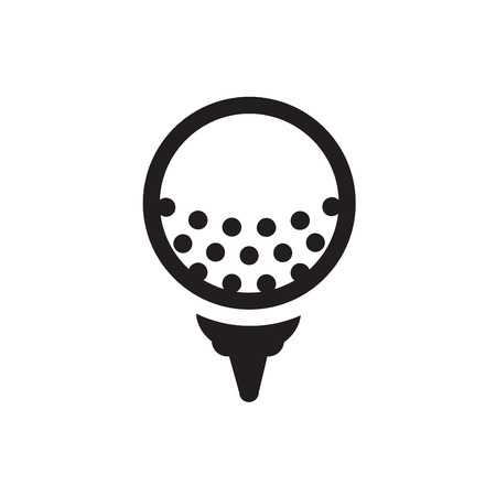 beauty contest: golf design over gray background vector