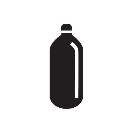 plastic backdrop: A bottle of water icon Illustration