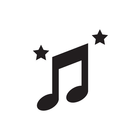 crotchets: music note and star icon
