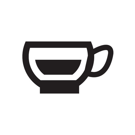 co: Coffee Icons with White Background