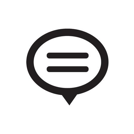 converse: Speech bubble icon on white background Illustration