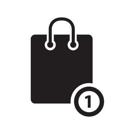 bank cart: Shopping basic icon Illustration