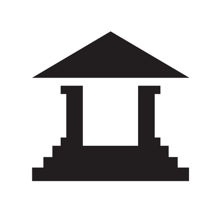governmental: court building vector icon Illustration