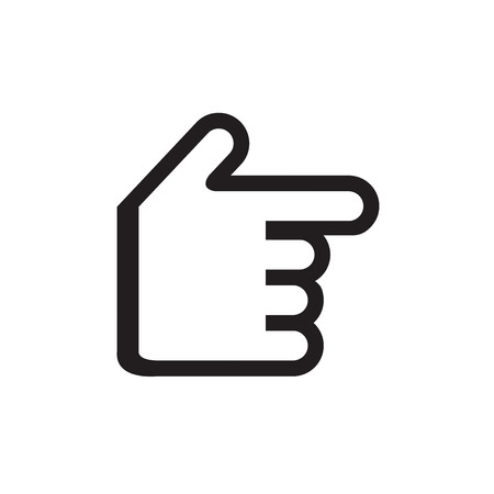 griping: Hand gesture black icon vector