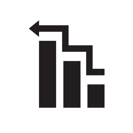 increment: Business Graph icon Illustration