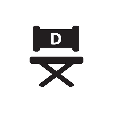 s video: director chair icon Illustration