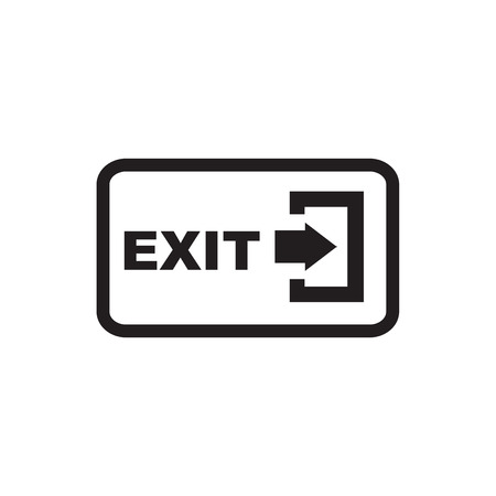 logout: Arrow Logout Exit icon Illustration