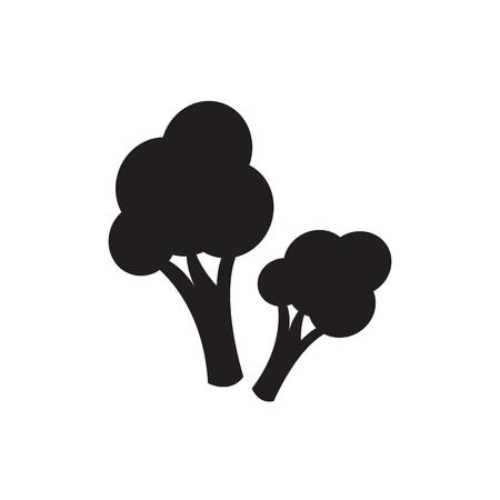 broccoli: Vector broccoli icon