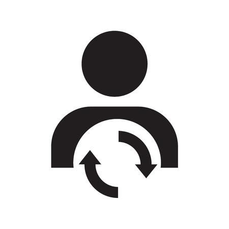 User arrow icon. Redo
