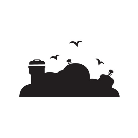 disposal: Garbage Disposal icon Illustration
