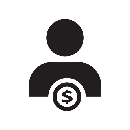 people and money icon Illustration