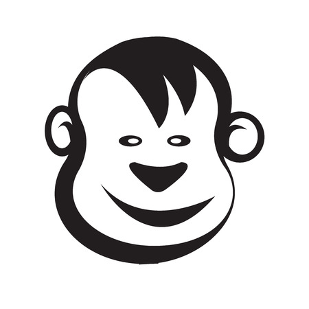 baboon: Monkey head icon vector