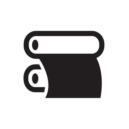 desktop printer: Color Print icon Illustration