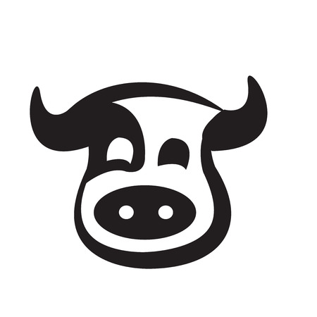 abstract animal: cows head design Illustration