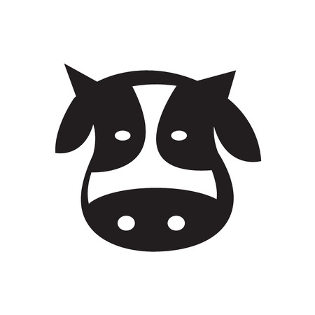 domestic animals: cows head design Illustration