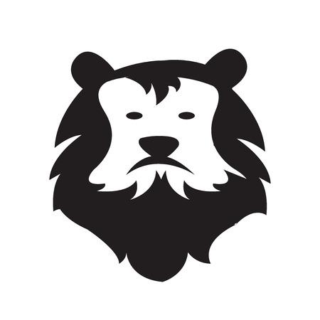 domination: Lion Head Logo cartoon style