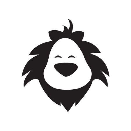 Lion Head Logo cartoon style
