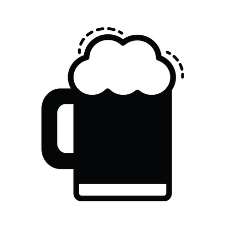 Beer vector icon black color Illustration