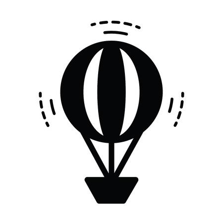 drifting: Hot Air Balloon icon  black color Illustration