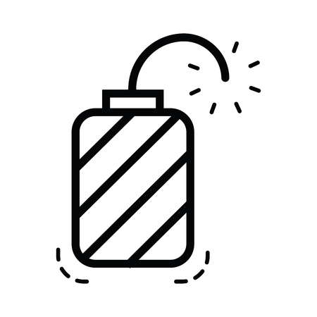 enemy: hand grenade icon  line style Illustration