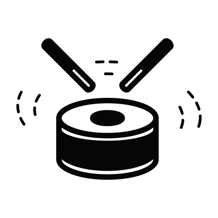 drums: Drum Icon Isolated  black color Illustration