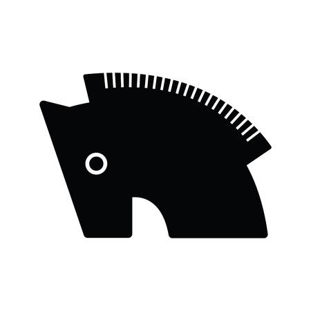 cavallo di troia: cavallo di Troia simbolo icona nera