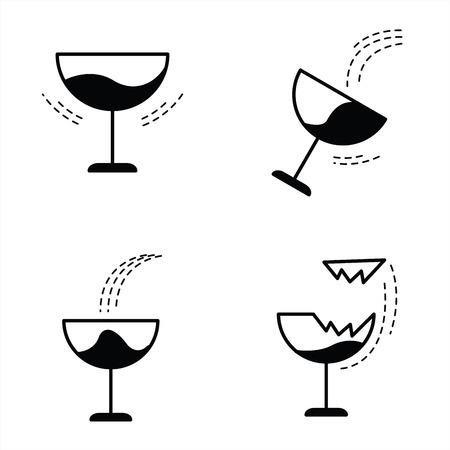 wineglass: The wineglass icon Illustration