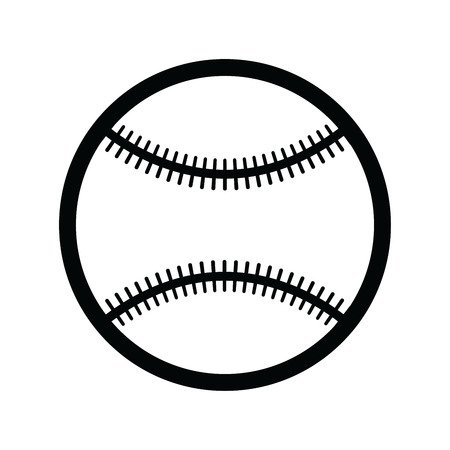single color image: Baseball isolated on white
