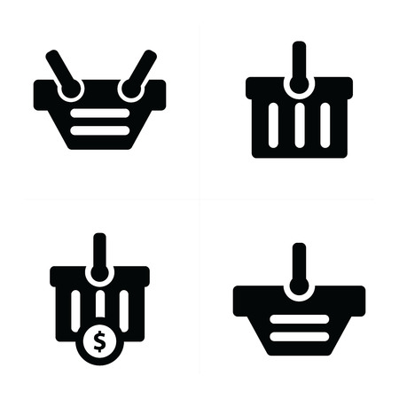 time account: Shopping cart Icon Set