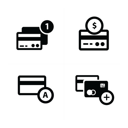 accounting logo: credit card  with bubble icon