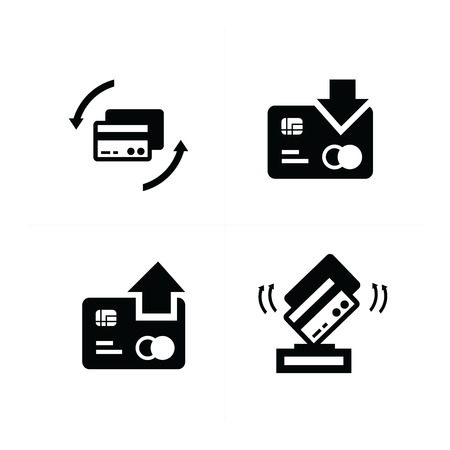 credit card with arrow icon Illustration