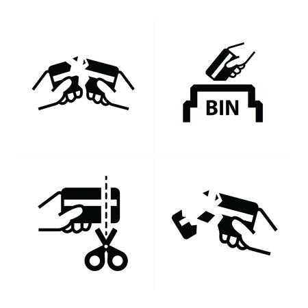 removing: removing credit card symbol