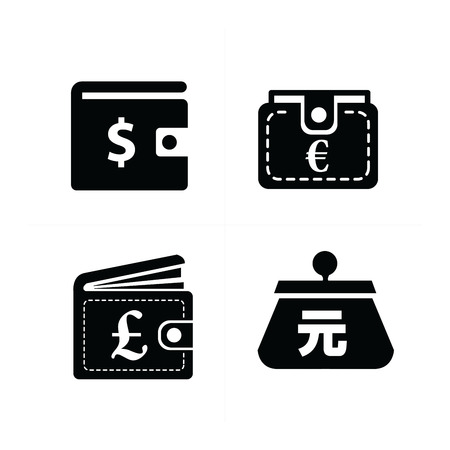 currency: Currency on Wallet set