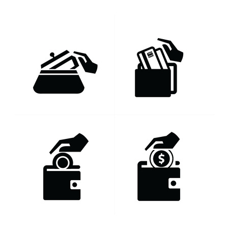 put on: Put down money icon