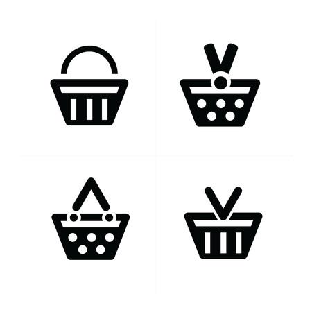 shopping cart icon: 4 design Shopping cart Icon Set Illustration