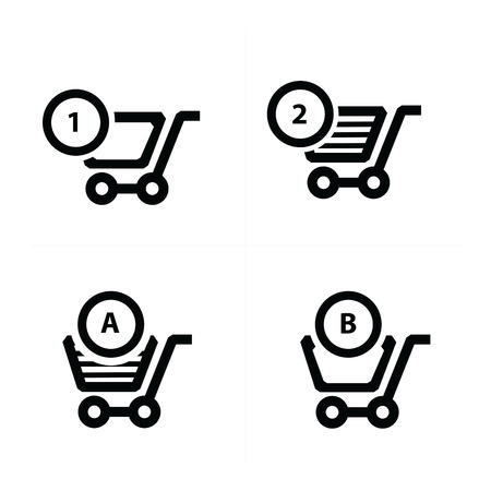 bubble talk: Shopping cart icons and bubble talk