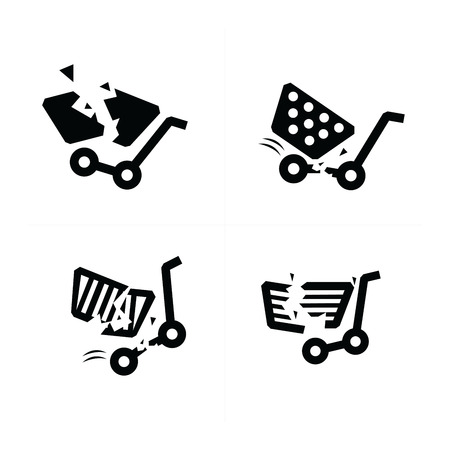 break: break Shopping cart icons.