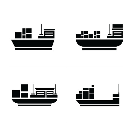 brigantine: vector transport boat Icons Illustration