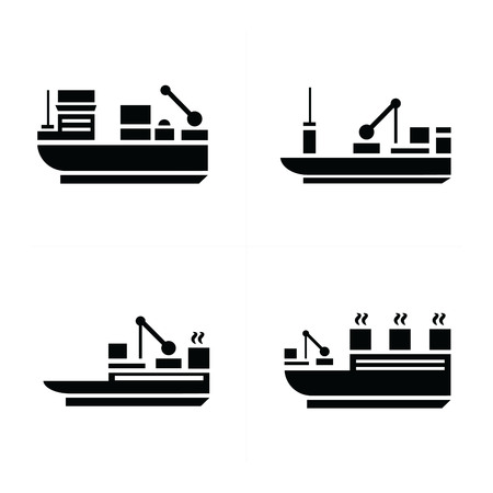 brigantine: transport boat Icons Illustration