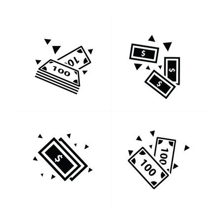 money falling: Money falling  Icon design