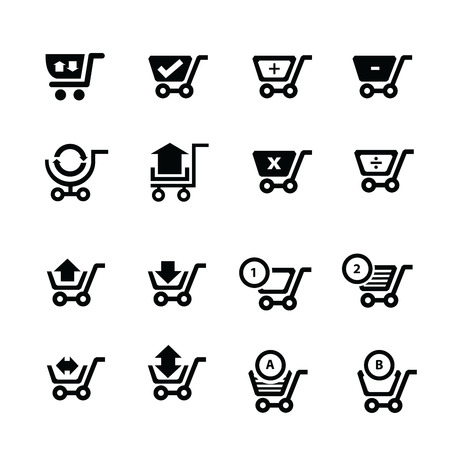 bubble talk: Shopping cart icons and symbol and  bubble talk.