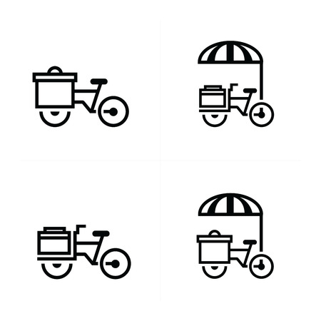 larder: Mobile food bicycle icons