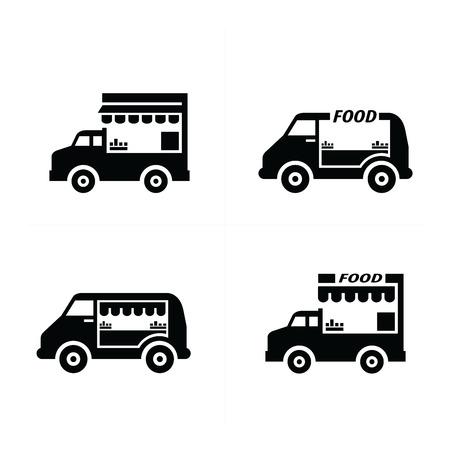 food: Mobile food car icons