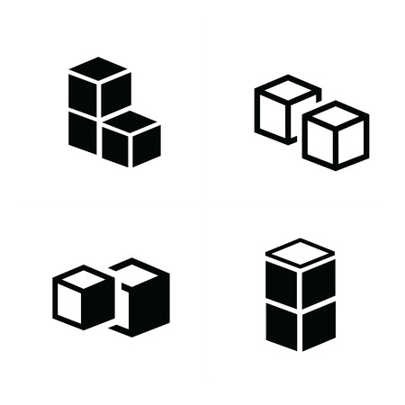 interlace: box interlace icons set