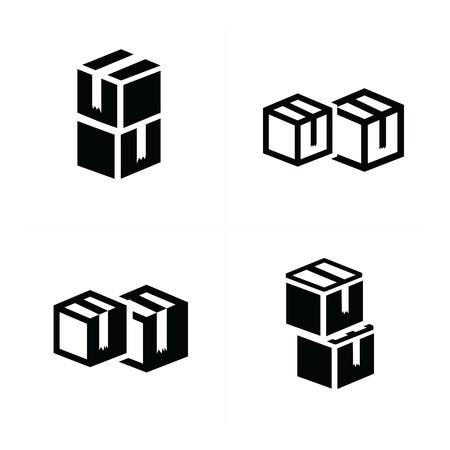 interlace: vectors box interlace icons set