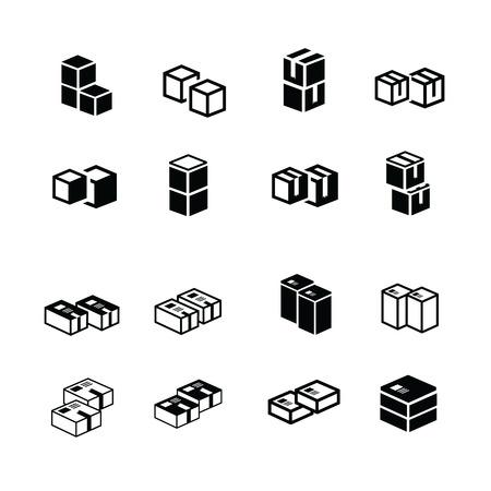 interlace: set of vectors box interlace icons