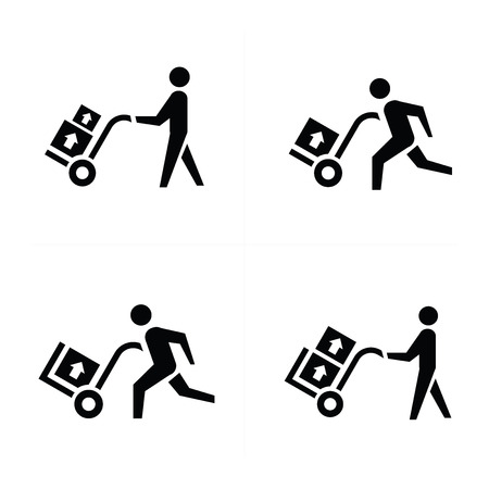 courier: man courier icon vector