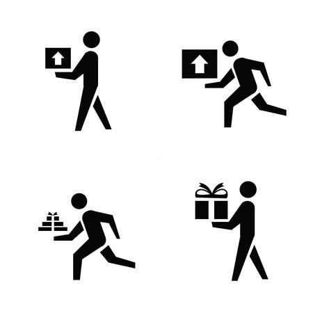 courier: man courier icon design