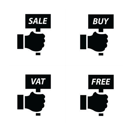 bargain for: Hand Price and tag set Illustration